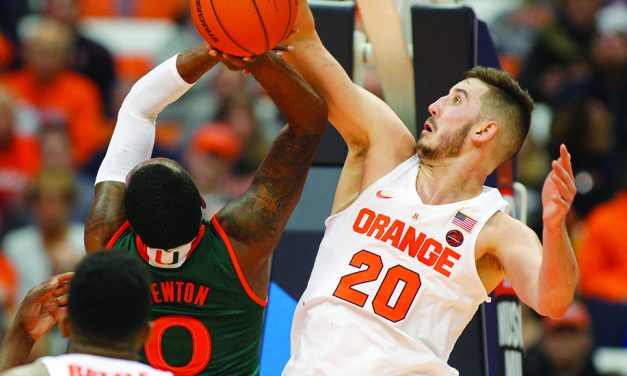 White and Lydon lead Syracuse over Miami, 70-55