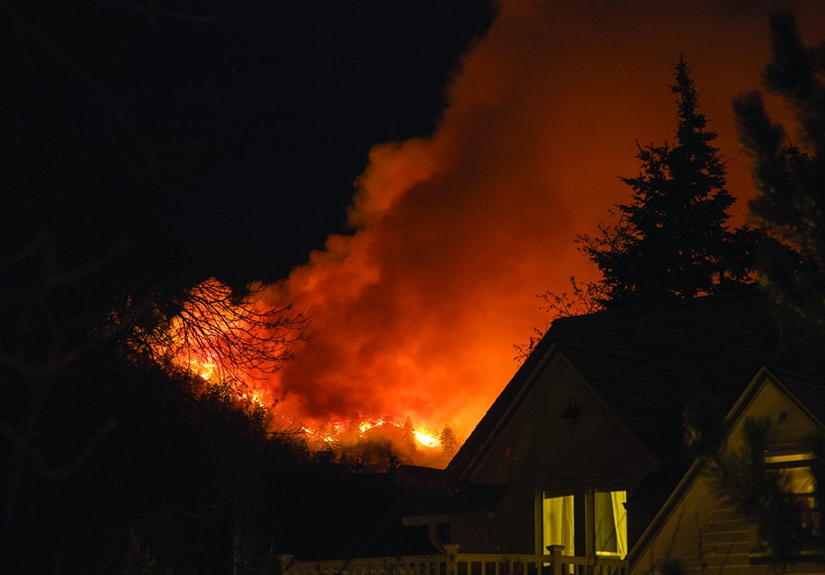 Fire near Boulder, Colorado,  could be human-caused