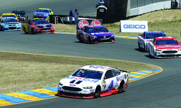 Harvick wins at Sonoma for 1st victory of season