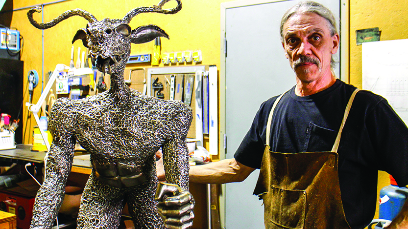 Local artist creates pieces out of unique material