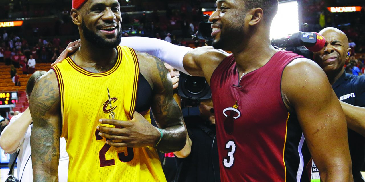 LeBron thrilled to be teammates again with Wade