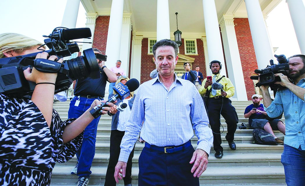 Louisville places Pitino, AD on leave