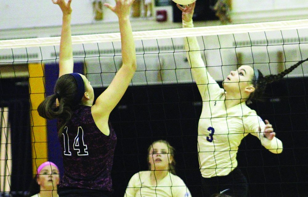 Lady Rams can't press early advantage, fall 3-0 to Gloversville in Foothills volleyball