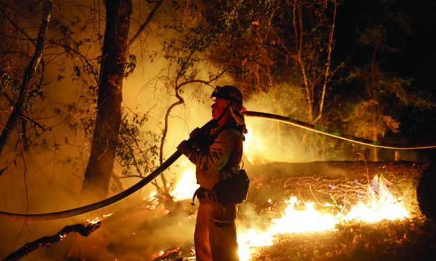 California firefighters say they  finally 'turned a corner'