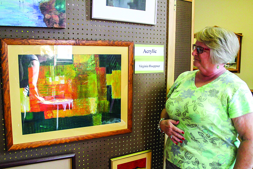 Hagaman sets up for annual art show slated for this weekend