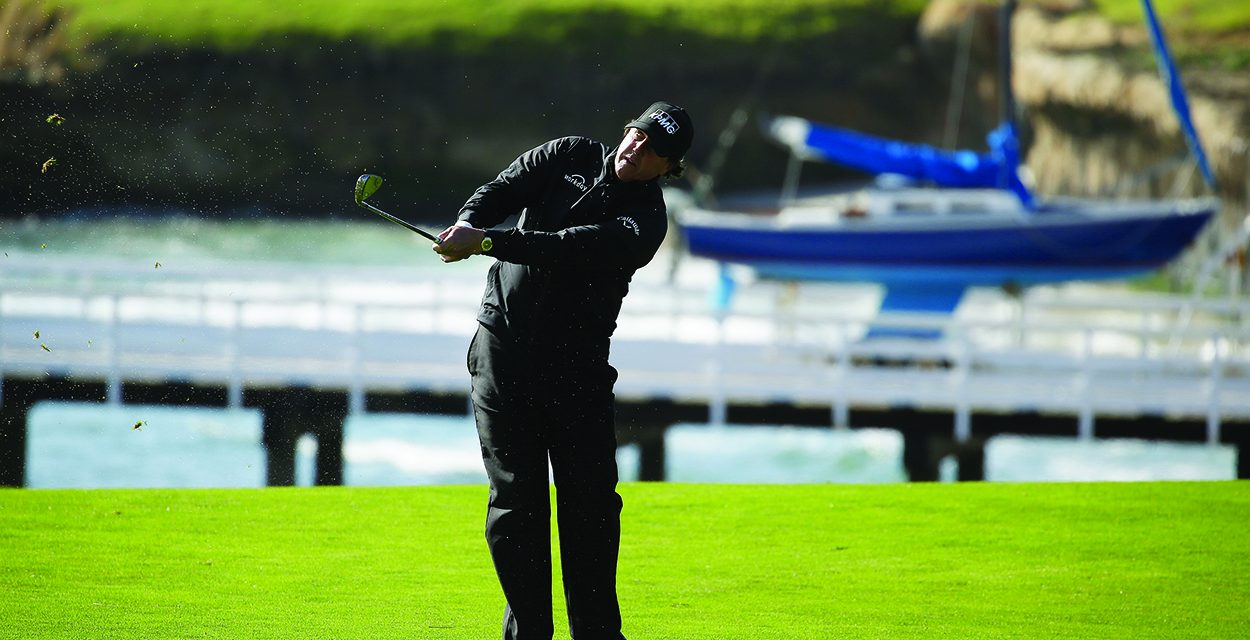 Mickelson beats everyone but the dark at Pebble Beach