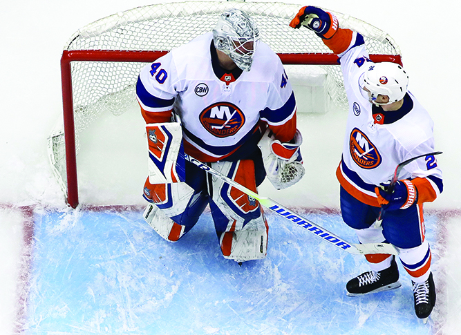 Islanders top Pens 4-1, lead series 3-0