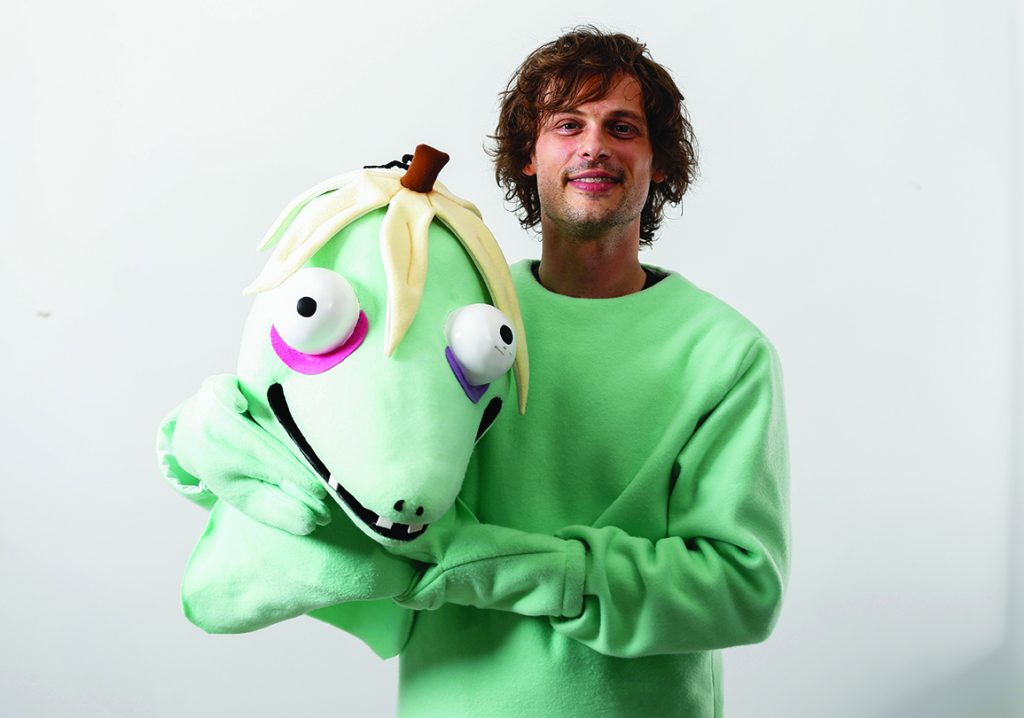 Why actor Matthew Gray Gubler is dressed in a monster suit